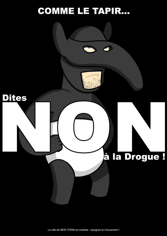 Visuel de la Campagne NON à la drogue !