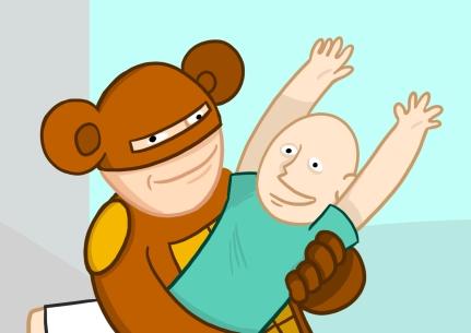 le singe et les enfants hospitalisés copie
